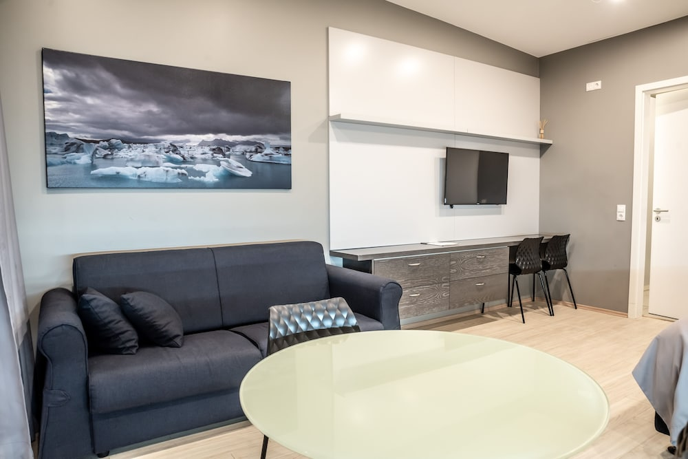 Interior, Black Beach Suites