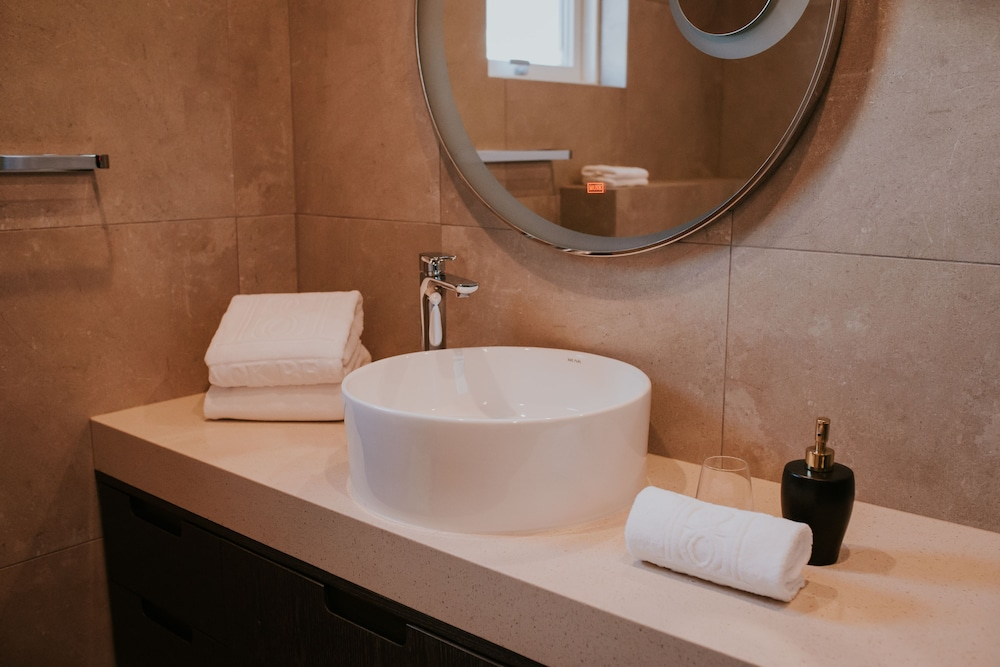 Bathroom Sink, Black Beach Suites