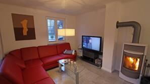 LED-Fernseher, Kamin