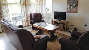Tv och eldstad