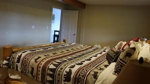 2 bedrooms, bed sheets, wheelchair access