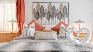 5 makuuhuonetta, silitysrauta/-lauta, Wi-Fi, vuodevaatteet