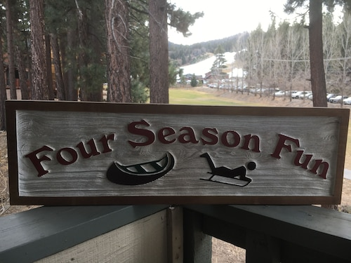 Four Season Fun- Big Bear Ski and Lake Vacation- Ski, Swim, Paddle, Sled, Bike