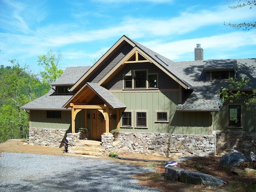 Stunning Craftsman Timber Frame Home in Gated Nature Preserve Close to Blk Mtn!!