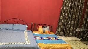 3 bedrooms, desk, iron/ironing board, linens