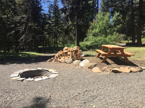 Check Expedia for Availability of Four Acre Private Campground With Power