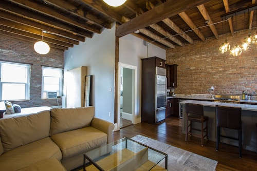 #1 Ranked Vrbo Property! Upscale, Loft, 2-br Condo Near BC & Fenway W/parking