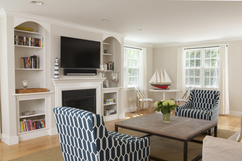 Living Room, Beautifully Furnished & Impeccably Maintained 5 Bed, 3 1/2 Bath Nantucket Home