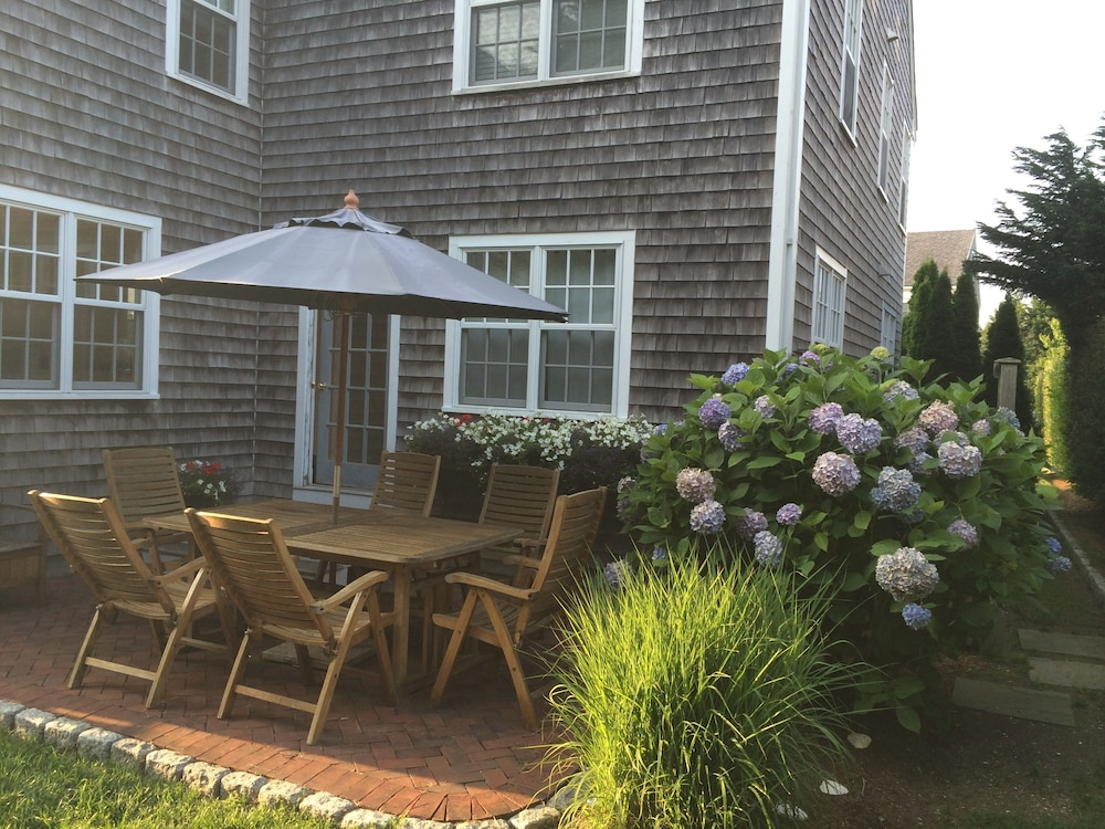 Terrace/Patio, Beautifully Furnished & Impeccably Maintained 5 Bed, 3 1/2 Bath Nantucket Home