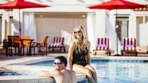 2 outdoor pools, open 7:00 AM to midnight, sun loungers