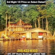 Main Lake! BIG Water Views! Cozy Cabin on the Lake! Available!!