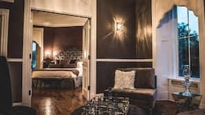 Premium bedding, down duvet, pillow top beds, blackout curtains
