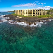 Best! Oceanfront, Ground 1st Floor. Beach. Surf. Panoramic Views at Kuhio Shores