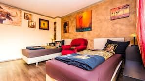 3 Schlafzimmer, hochwertige Bettwaren, Bügeleisen/Bügelbrett