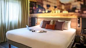 Camas com colchões pillow-top, frigobar, cofres nos quartos