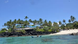 Private beach, snorkelling, fishing