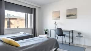 1 bedroom, blackout drapes, iron/ironing board, free WiFi