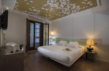 スペインのサンティアゴ・デ・コンポステーラのカテドラルに近いホテル