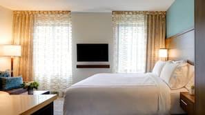 이집트산 면 시트, 고급 침구, 필로우탑 침대, 객실 내 금고