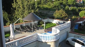 Seasonal outdoor pool, a rooftop pool