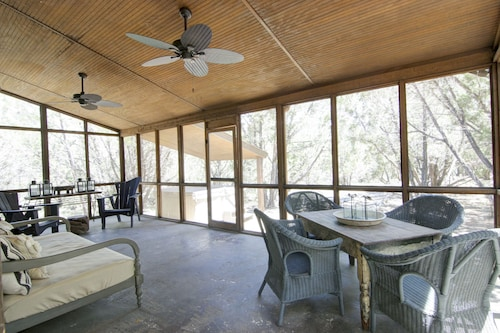 Great Place to stay Luna Rio Cabana 1br/1ba -hot Tub & Screened Porch! near Wimberley