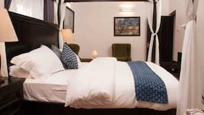 5 bedrooms, premium bedding, in-room safe, individually decorated