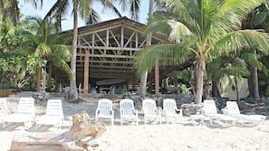 Private beach, white sand, snorkeling, kayaking