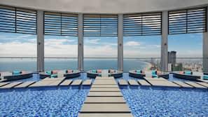 야외 수영장, 07:00 ~ 19:00 오픈, 일광욕 의자