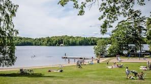På stranden och rodd/paddling