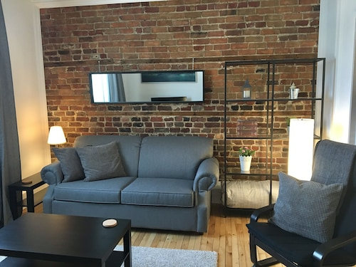 Cozy, 2nd Floor, Brick Wall, Across Street From River, Parking, Bikepath,