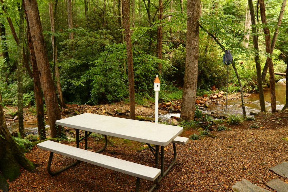 Property Grounds, Hidden Gem, 30 ft From Creek, Hot Tub, Outdoor Fire Pit, Fireplace, Pet Friendly