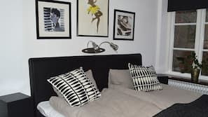 Med varierende dekoration, med varierende møblement