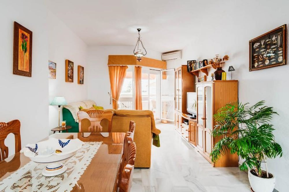 Living Room, Apartment with 2 bedrooms only 150 meters from the beach