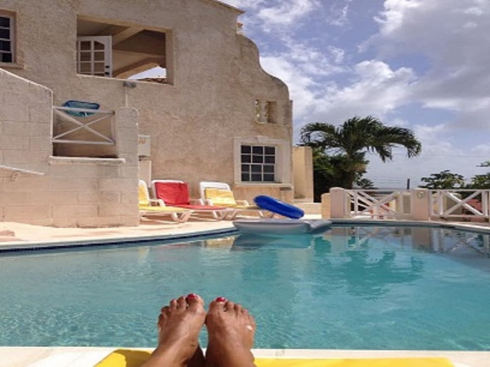Pool, Barbados villa near beach -- the view,2 pools, WiFi, daily staff