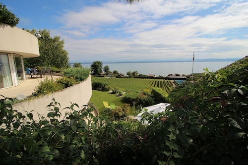 Studio With Breathtaking View of Lake Neuchâtel