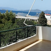 Apartment With 2 Bedrooms in Nea Styra, Evia, With Wonderful sea View and Balcony