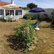 House With 2 Bedrooms in Barbâtre, With Wonderful sea View, Enclosed Garden and Wifi