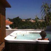 House With 2 Rooms and Mezzanine in Barbâtre, With Wonderful sea View, Garden and Wifi