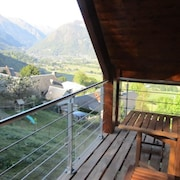 Apartment With one Bedroom in Camparan, With Wonderful Mountain View, Furnished Garden and Wifi - 3 km From the Slopes