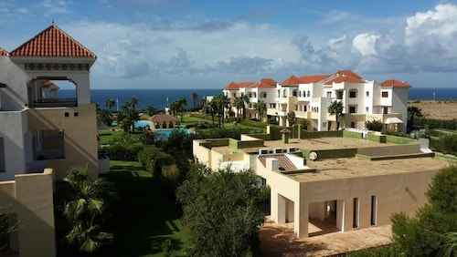 Apartment With 2 Bedrooms in Tanger, With Wonderful sea View, Pool Access and Enclosed Garden - 50 m From the Beach