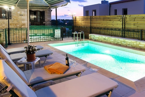 Villa With 3 Bedrooms in Rethymno, With Private Pool, Furnished Terrace and Wifi - 2 km From the Beach