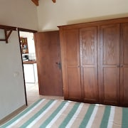 Studio in Los Llanos, With Wonderful Mountain View, Pool Access, Furnished Garden - 9 km From the Beach