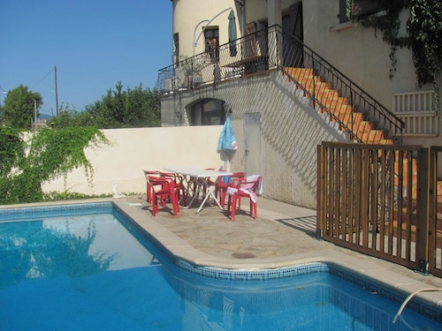 Villa With 3 Bedrooms in Cessenon-sur-orb, With Private Pool, Furnished Terrace and Wifi - 30 km From the Beach