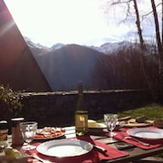 House With 4 Bedrooms in Billière, With Wonderful Mountain View and Furnished Garden - 26 km From the Slopes
