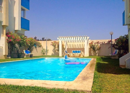 Apartment With 2 Bedrooms in Hammamet, With Wonderful sea View, Shared Pool, Balcony - 100 m From the Beach