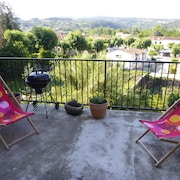 Apartment With one Bedroom in Joyeuse, With Wonderful Mountain View, Furnished Terrace and Wifi