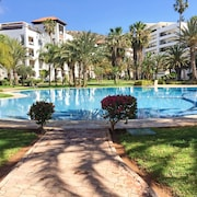 Sunny, 2-bedroom Apartment With a Terrace and Swimming Pool in Agadir at the Heart of the Marina!