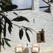 Enchanting Island House on Syros Island, Chroussa Village Surrounded by Orchards, w/ Wifi & Private Terrace