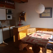 Studio in Praz-sur-arly, With Wonderful Mountain View and Enclosed Garden - 100 m From the Slopes