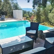 Traditional House in Corsica With a Swimming Pool, Wifi, Furnished Terrace and Stunning Views!